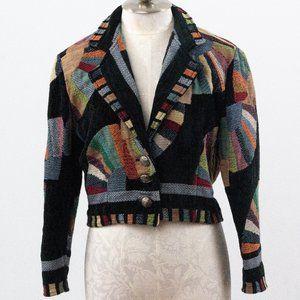 Vintage 90s M Cotton Southwestern Jacquard Jacket